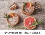 cocktails with grapefruit... | Shutterstock . vector #557468566