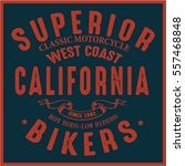 vintage biker graphics and... | Shutterstock .eps vector #557468848