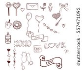 set of hand drawn doodles for... | Shutterstock .eps vector #557471092