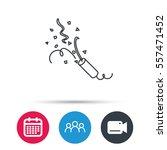 shooting slapstick icon.... | Shutterstock .eps vector #557471452