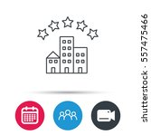 hotel icon. five stars service... | Shutterstock .eps vector #557475466