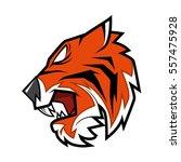 tiger head vector illustration | Shutterstock .eps vector #557475928