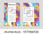 abstract vector layout... | Shutterstock .eps vector #557486536