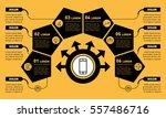 vector infographic of... | Shutterstock .eps vector #557486716