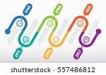 horizontal infographic timeline.... | Shutterstock .eps vector #557486812