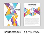 abstract vector layout... | Shutterstock .eps vector #557487922