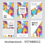 abstract vector layout... | Shutterstock .eps vector #557488012