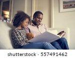 african descent family house... | Shutterstock . vector #557491462