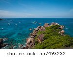 scenic and beautiful seascape... | Shutterstock . vector #557493232