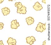 seamless pattern with popcorn.... | Shutterstock .eps vector #557495572
