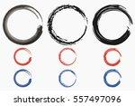 grunge circle. round frame of... | Shutterstock .eps vector #557497096