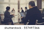 business discussion meeting... | Shutterstock . vector #557497366