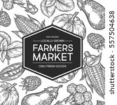 farmers market shop organic... | Shutterstock .eps vector #557504638