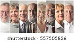 old people's montage | Shutterstock . vector #557505826