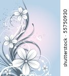 abstract floral background for... | Shutterstock .eps vector #55750930
