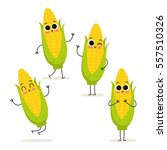 Corn. Cute Vegetable Vector...