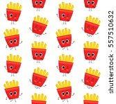 french fries  vector seamless... | Shutterstock .eps vector #557510632