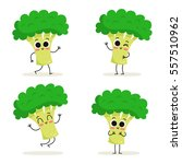 broccoli. cute vegetable vector ... | Shutterstock .eps vector #557510962