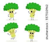 broccoli. cute vegetable vector ... | Shutterstock .eps vector #557510962