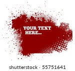 abstract red grunge background...   Shutterstock .eps vector #55751641