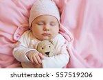 Cute Baby Sleeping With Teddy...