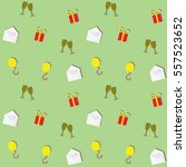 seamless pattern with festive... | Shutterstock .eps vector #557523652