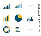graph set | Shutterstock .eps vector #557524762