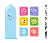 set of different condoms in... | Shutterstock .eps vector #557524846