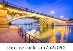 seville is divided in two by... | Shutterstock . vector #557525092