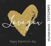 vector hand drawn heart on... | Shutterstock .eps vector #557529895