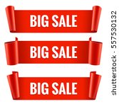 sale banner set. realistic red... | Shutterstock .eps vector #557530132