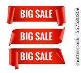 sale banner set. realistic red... | Shutterstock .eps vector #557530306