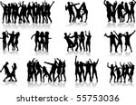 dancing silhouettes   large... | Shutterstock .eps vector #55753036