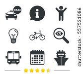 transport icons. taxi car ... | Shutterstock .eps vector #557531086
