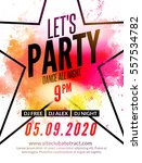 lets party design poster. night ... | Shutterstock .eps vector #557534782