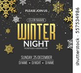 winter party invitation poster... | Shutterstock .eps vector #557534986