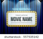 cinema billboard now showing.... | Shutterstock .eps vector #557535142