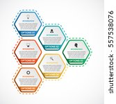 abstract hexagon infographics... | Shutterstock .eps vector #557538076