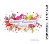 birthday greeting card design... | Shutterstock .eps vector #557541235