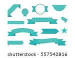 vector set of ribbons. modern... | Shutterstock .eps vector #557542816