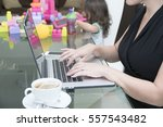 mom working from home | Shutterstock . vector #557543482