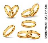 gold wedding rings | Shutterstock .eps vector #557544538