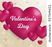 valentine's day concept. vector ... | Shutterstock .eps vector #557549422