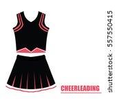 isolated cheerleading uniform... | Shutterstock .eps vector #557550415