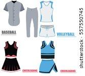 set of different sport uniforms ... | Shutterstock .eps vector #557550745