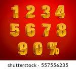 3d golden yellow metallic... | Shutterstock .eps vector #557556235