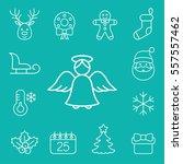 christmas xmas new year winter... | Shutterstock .eps vector #557557462