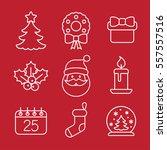 christmas xmas new year winter... | Shutterstock .eps vector #557557516