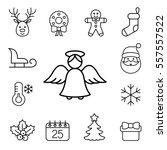 christmas xmas new year winter... | Shutterstock .eps vector #557557522