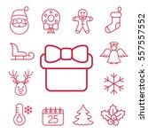 christmas xmas new year winter... | Shutterstock .eps vector #557557552